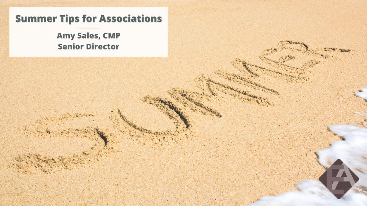 Summer Tips for Associations